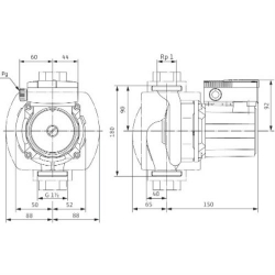 Насос циркуляционный Wilo TOP-S40/10 фланцевый с трёхфазным двигателем