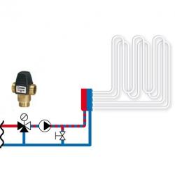 """Клапан термостатический смесительный трехходовой ESBE VTA321, DN20, вн.р 3/4"""" 35-60С, для теплого пола"""