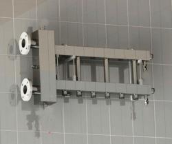 Коллектор отопления с гидрострелкой Gidruss BMF-300-4D (300 кВт, 4 контура, вход Ду65фланец Межосевое расстояние 125 мм)