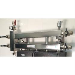 Коллектор отопления с гидрострелкой GidrussBMSS-60-3D из нержавеющей стали (60 кВт, 3 контура вниз, вход G 1 1/4'' НР выход G 1'' НР Межосевое расстояние 125 мм)