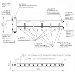 """Коллектор отопления с гидрострелкой Gidruss BMSS-150-6D из нержавеющей стали (150 кВт, 6 контуров, вход G 1 1/2"""" НР, выход 1'' НР Межосевое расстояние 125 мм)"""
