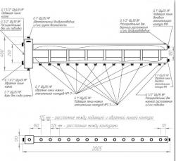 Коллектор отопления с гидрострелкой Gidruss BMSS-150-8 из нержавеющей стали (150 кВт, 8 контуров, направление по заказу  вход G 1 1/2'' НР, выход 1'' НР Межосевое расстояние 125 мм) ЦЕНА ДОГОВОРНАЯ!!!