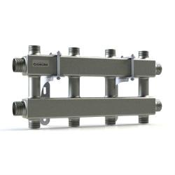 """Модульный коллектор отопления Gidruss MK-100-4DU (для гидрострелок GR-100-32, 5 потребителей G 1'', 2 магистр. выхода 1 1/4"""")"""
