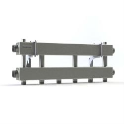 """Модульный коллектор отопления Gidruss MK-150-3x25 (для гидрострелки GR-150-40, 4 потребителя G 1'', 2 магистр. выхода 1 1/2"""")"""