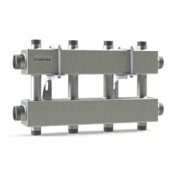 """Модульный коллектор отопления Gidruss MK-150-4DUx25 (для гидрострелки GR-150-40, 5 потребителей G 1'', 2 магистр. выхода 1 1/2"""")"""