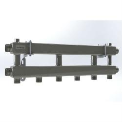 """Модульный коллектор отопления Gidruss MKSS-100-3 (для гидрострелок GRSS-100-32, 4 потребителя G 1'', 2 магистр. выхода 1 1/4"""")"""