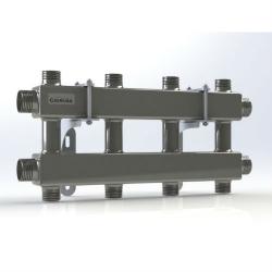 Модульный коллектор отопления Gidruss MKSS-100-4DU (для гидрострелок GRSS-100-32, 5 потребителей G 1'', 2 магистр. выхода 1 1/4