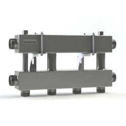 Модульный коллектор отопления Gidruss MKSS-150-2x32 (для гидрострелки GRSS-150-40, 3 потребителя G 1 1/4'', 2 магистр. выхода 1 1/2