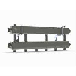 Модульный коллектор отопления Gidruss MKSS-150-3x25 (для гидрострелки GRSS-150-40, 4 потребителя G 1'', 2 магистр. выхода 1 1/2