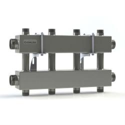 Модульный коллектор отопления Gidruss MKSS-150-4DUx25 (для гидрострелки GRSS-150-40, 5 потребителей G 1'', 2 магистр. выхода 1 1/2