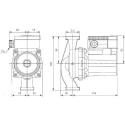 Насос циркуляционный Wilo Top-RL 40/4 EM PN6/10 с фланцевым соединением