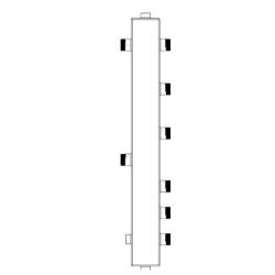 Гидрострелка Sintek с вертикальным коллектором ST-50-3 на 3 контура