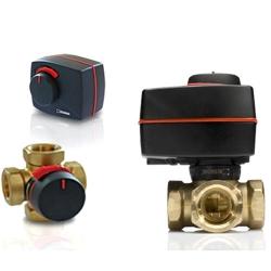 """Комплект """"Смесительный трехходовой клапан ESBE VRG 131, DN25, вн. 1"""", KVS 1,6 с электроприводом ARA661, для теплого пола"""