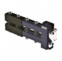 Коллектор отопления с гидрострелкой Gidruss и термоизоляцией BM-60-5DU.EPP (до 60 кВт, вх. G 1″, 2+2+1 контура G 1″, EPP-термоизоляция) Артикул: BM 6004T 20