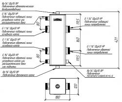 """Гидрострелка (Гидравлический разделитель) Gidruss GR-150-40 (до 150 кВт, 1 1/2"""")"""