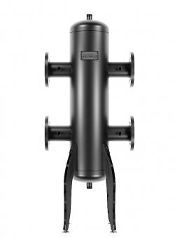 Гидрострелка (гидравлический разделитель) Gidruss GR-600-80 (фланцевое исполнение) (до 600 кВт, фланец 1-80-10 ГОСТ 12820-81, корпус из бесшовной трубы D=219 мм ст. 09Г2С, 4 подключения Rp ½″)