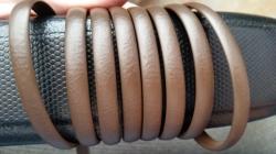 """Искусственный ротанг """"Полоса цвет коричневый 6-12 мм, тиснение кожа"""""""