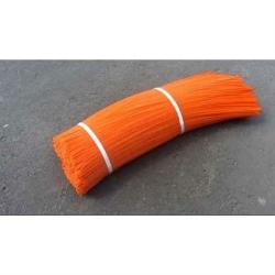 """Полипропиленовый ворс """"Оранжевый 1 мм"""" для щеток"""