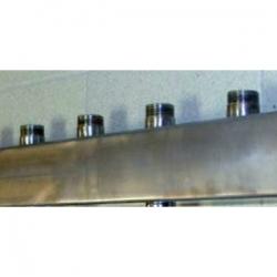 """Распределительный коллектор Gidruss DMSS-25-20x5 из нержавеющей стали (вход G 1"""", Транзитный выход 1"""", 5 выходов 3/4"""")"""