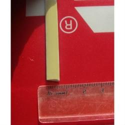 """Искусственный ротанг """"Полумесяц цвет кремовый-1 (айвори) 7 мм, текстура гладкая"""" 2 бухты"""