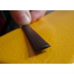 """Искусственный ротанг """"Полумесяц цвет венге 6 мм, текстура гладкая"""" 2 бухты"""