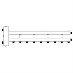 Гидрострелка с коллектором на 5 контуров Sintek STK-5