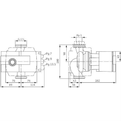Насос циркуляционный Wilo Stratos 50/1-10 с фланцевым соединением