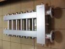 """Коллектор отопления с гидрострелкой Gidruss BMF-300-8U (300 кВт, 8 контуров 1"""", вход Ду65фланец Межосевое расстояние 125 мм)"""