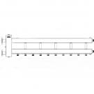Коллектор отопления с гидрострелкой Gidruss BMF-300-6D (300 кВт, 6 контуров  G вход Ду65фланец Межосевое расстояние 125 мм)