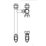 Насосная группа Gidruss NGSS-20 C G 3/4'' с трехходовым клапаном ESBE VRG без насоса