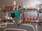 """Коллектор теплого пола Valtec из нержавеющей стали в сборе со встроенными расходомерами, 1""""х9 вых. (3/4"""")"""
