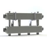 """Модульный коллектор отопления Gidruss MK-150-2x25 (для гидрострелки GR-150-40, 3 потребителя G 1'', 2 магистр. выхода 1 1/2"""")"""