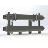 """Модульный коллектор отопления Gidruss MKSS-100-2 (для гидрострелки GRSS-100-32, 3 потребителя G 1'', 2 магистр. выхода 1 1/4"""")"""