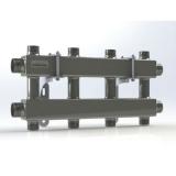 """Модульный коллектор отопления Gidruss MKSS-100-4DU (для гидрострелок GRSS-100-32, 5 потребителей G 1'', 2 магистр. выхода 1 1/4"""")"""