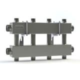 """Модульный коллектор отопления Gidruss MKSS-150-4DUx25 (для гидрострелки GRSS-150-40, 5 потребителей G 1'', 2 магистр. выхода 1 1/2"""")"""