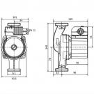 Насос циркуляционный Wilo Star-Z 25/2 с однофазным двигателем для водоснабжения