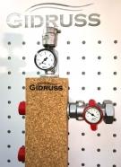 Гидрострелка (Термо-гидравлический разделитель) Gidruss TGRSS-40-20х4 (до 40 кВт, 4 контура G 3/4'') из нержавеющей стали