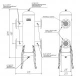 Гидрострелка (гидравлический разделитель) Gidruss GR-1000-100 (фланцевое исполнение)