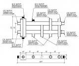 Коллектор отопления с гидрострелкой Gidruss BMSS-40-4DU (до 40 кВт, все контуры G ¾″, 4D-кронштейны K.UMS, подключение термодатчика) Артикул: BM 40A30 20