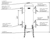 Гидрострелка (гидравлический разделитель) Гидрострелка Gidruss GR-2000-150 (фланец Ду-150 2000 кВт) Артикул: 21 20000 02