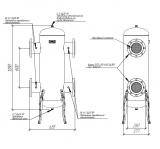 Гидрострелка (гидравлический разделитель) Gidruss GR-2000-150 (до 2 мВт, фланец 1-150-10 ГОСТ 12820-81, корпус из бесшовной трубы D=377 мм ст. 09Г2С толщиной 9 мм, 4 подключения Rp ½″) Артикул: GR 20F00 20