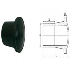 Заглушка литая удлиненная d 110 пэ 100 sdr 13,6