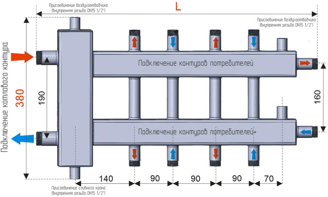 Гидрострелка для отопления своими руками схема